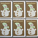 Happy New Year Cards (Linen Snowmen)
