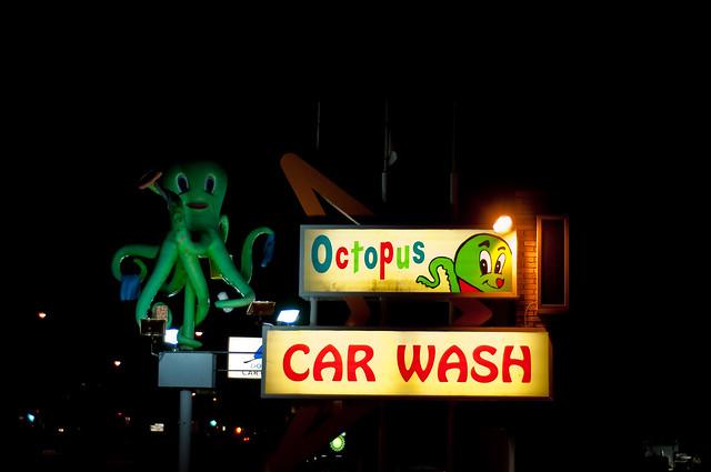 Octopus Car Wash Madison: Octopus Car Wash At Night 1