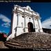 Church after market day, Chichicastenango, Guatemala