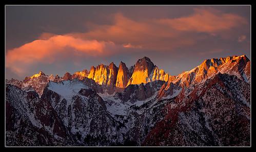 winter sunrise landscape newyears sierranevada mitwhitney