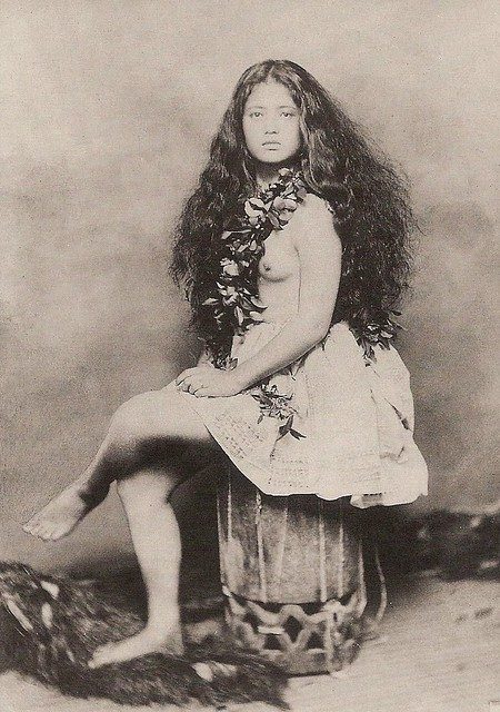 Young Hawaiian Girl -- 1890