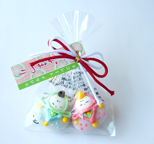 Hina doll shaped candies from Japan by maki