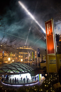 Night Lights Of Vancouver: Robson Square Olympic Style