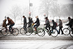 Afternoon Traffic - Cycling in Winter in Copenhagen