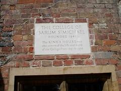 Photo of Sarum St Michael College stone plaque