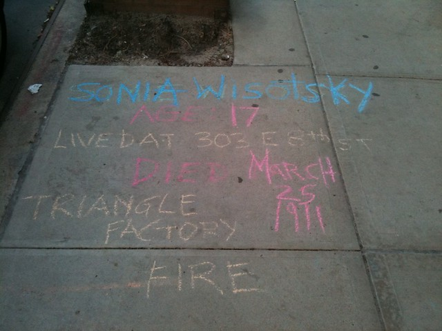 Someone that once lived in my bldg died in the NYC ... Triangle Shirtwaist Fire Map