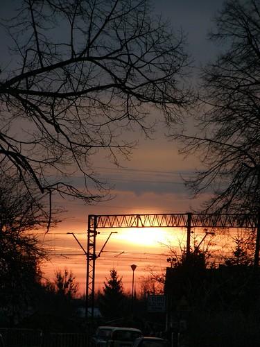 morning sunset sky sun colors sunshine sunrise dawn dusk poland polska olympus wroclaw wrocław lowersilesia dolnośląskie dolnyśląsk sp550uz