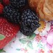 Berries on Vintage China Plate