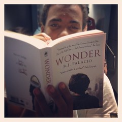 Look @intrepidteacher. #inflightreading #uwcsea_east #wonder