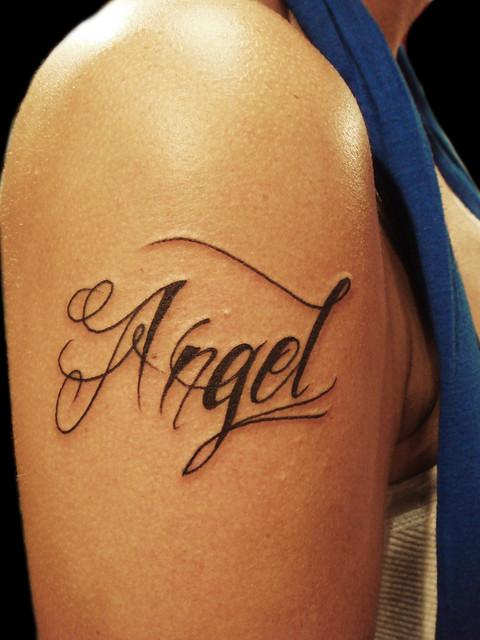 Angel tattoo ( yeap my name)