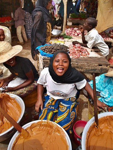 Town market in Dosso, Niger.