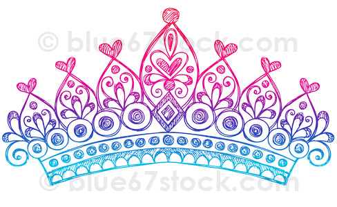 Hand Drawn Sketchy Princess Tiara Crown Doodle Drawing Drawings Of Princess Crowns