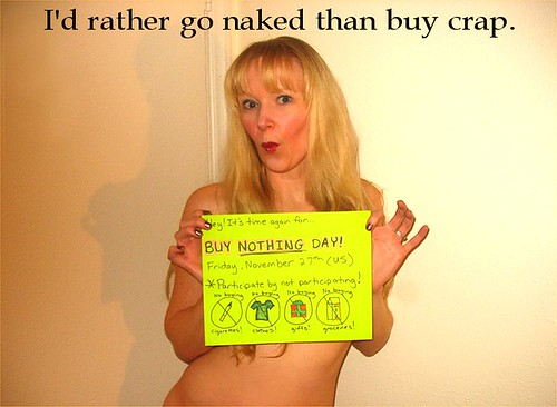 buy nothing day by ...the who cares girl...
