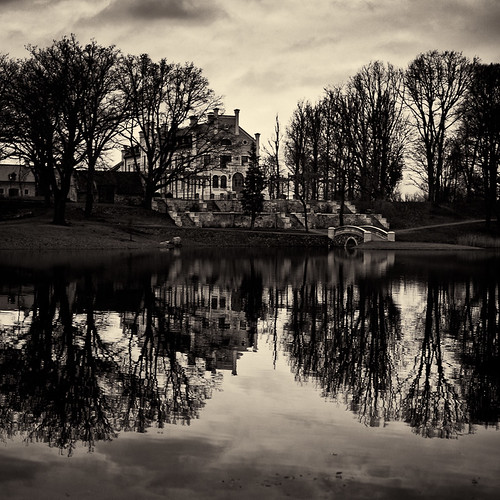 bw water mirror latvia gross manor imants kandava abigfave rūmene