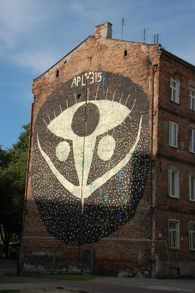 Mural ulica Łomżyńska à Praga. Photo de Krzysztof Belczyński