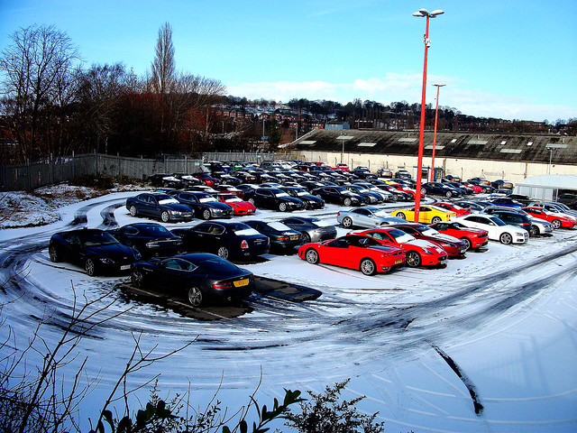 A normal car park, Fujifilm FinePix J37