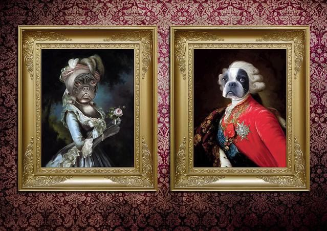 Marie Antoinette & Louis XVI (doggie style)