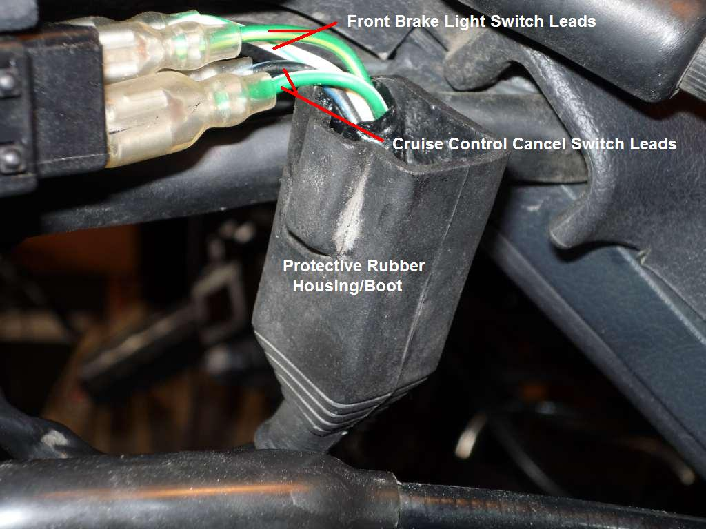 Cruise Control Light : Front gl brake light micro switch removal steve