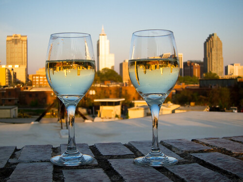 sunset skyline wine raleigh explore wineglasses boylanbridgebrewpub