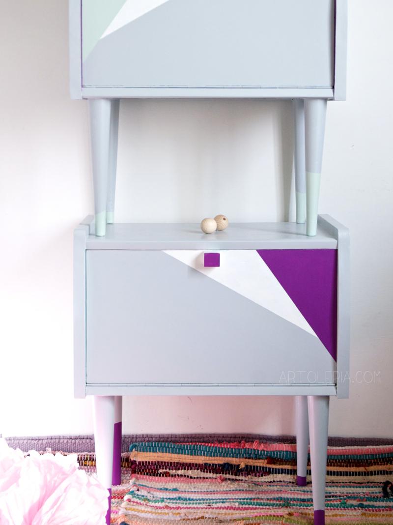 comodini mobili colori pastello