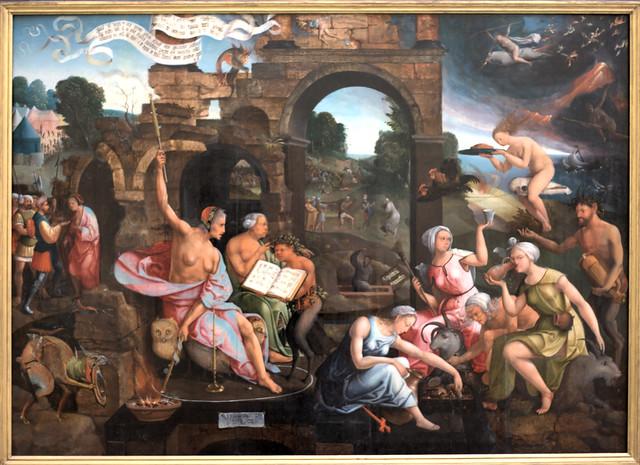 Museum Boijmans van  Beuningen - Saul bij de heks van Endor, Jacob Cornelisz van Oostsanen