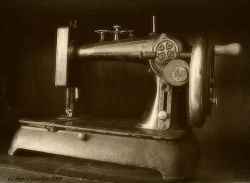 Great-great grandmothers sewing machine