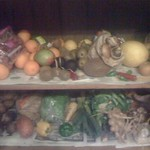 My Mum's amazingly stocked fruit & veg cupboard