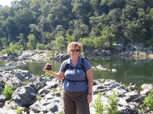 Buddy on the Billy Goat Trail with NPS Teacher Dale Glass 10.09