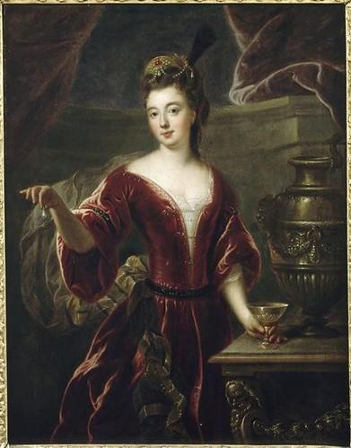 Troy, Francois de (1645-1730) - 1710c. Louise-Francoise de Bourbon as Cleopatra
