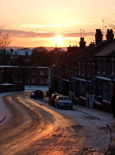 Bridge Road, in Snow