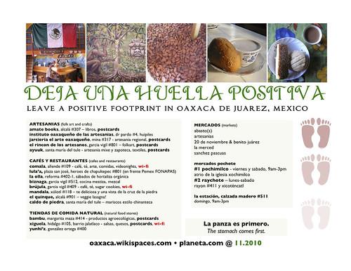 leave a positive footprint in oaxaca (deja una huella positiva)
