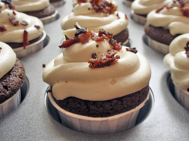 Guinness, Chocolate & Bacon Cupcakes | Flickr - Photo Sharing!