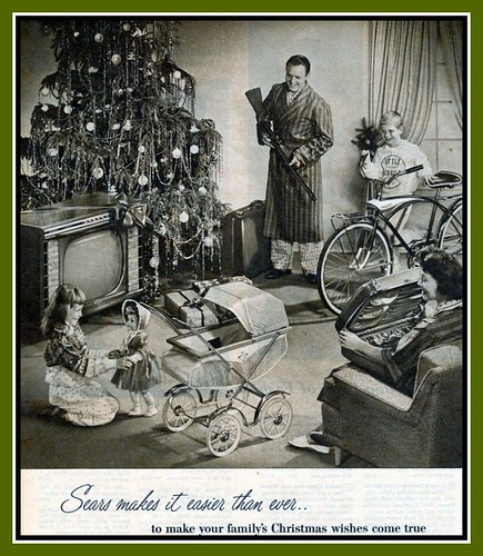 1958 Sears Catalog: Sears makes it easier to make your family's Christmas wishes come true