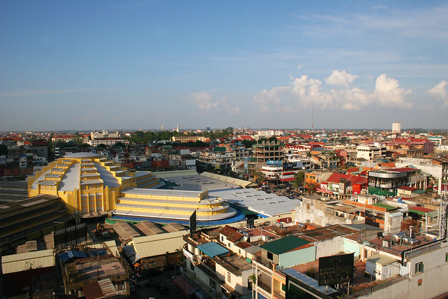 View from the top of Phnom Penh, Cambodia.