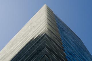 'Diagonal' shades of blue, by René Schmalschläger