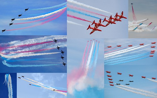 RAF Red Arrows collage - ScottAviation