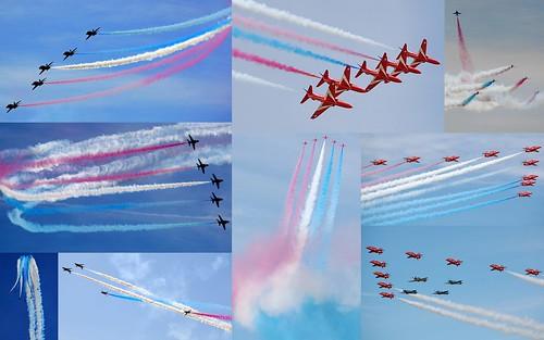 RAF Red Arrows collage - ScottAviation
