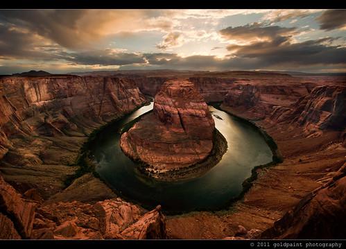sunset arizona usa southwest monument river landscape rocks desert natural bend az canyon national page coloradoriver horseshoe lakepowell horseshoebend goldpaintphotography