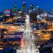 Kansas City Downtown Skyline Panorama by ericbowers