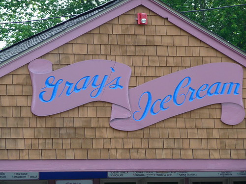Gray's Ice Cream by Rick Payette via I {heart} Rhody