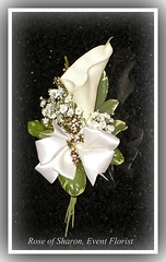 Corsage: Calla lily (silk) with accents