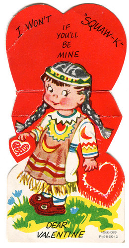 vintage valentine Native American