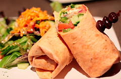 meal, breakfast, taquito, sandwich wrap, food, dish, cuisine,