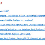 FAQ for Windows Small Business Server 2008 R2