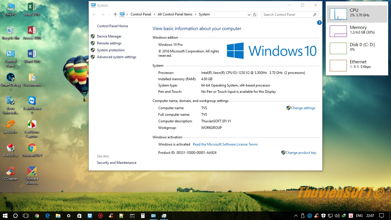 Ghost Windows 10 Enterprise x64 Full Soft - UEFI/GPT