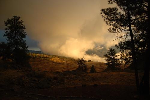 sunset clouds landscape