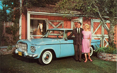 1962 Studebaker Lark Skytop Hardtop on set of Mr. Ed TV show by aldenjewell