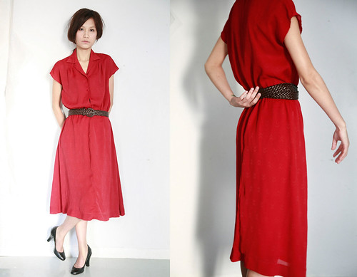 Lawall Vintage Red Red Dress
