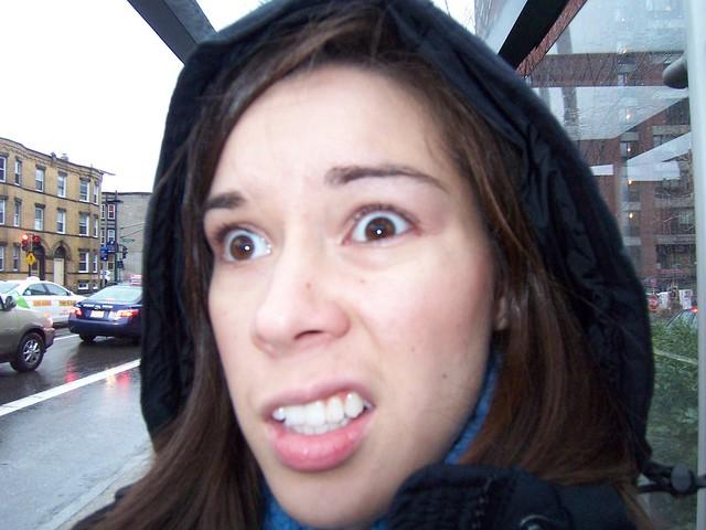 anna imitating grumpy woman
