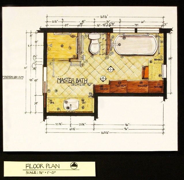 Residential Bath DesignFloor Plan  Flickr  Photo Sharing!